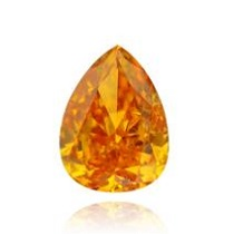 0.32 carat Fancy Intense Yellow Orange Pear