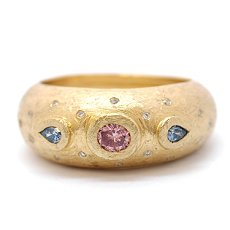 0.36ct Pink and Blue Diamond Ring