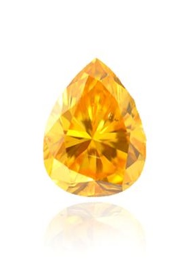 0.41 carat Fancy Vivid Yellow Orange