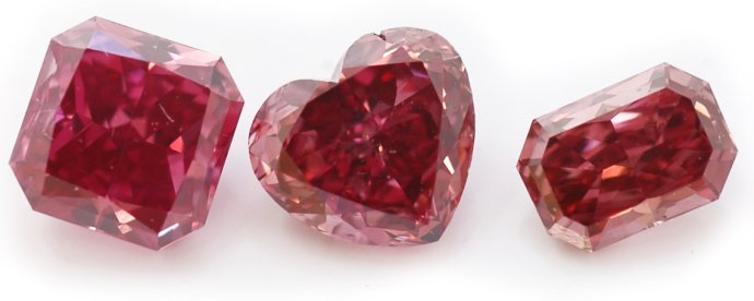 A sample from the Leibish & Co. Fancy Red 'Mars Diamonds'
