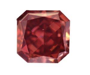 0.43 Carat, Fancy Red Diamond, Radiant, SI1