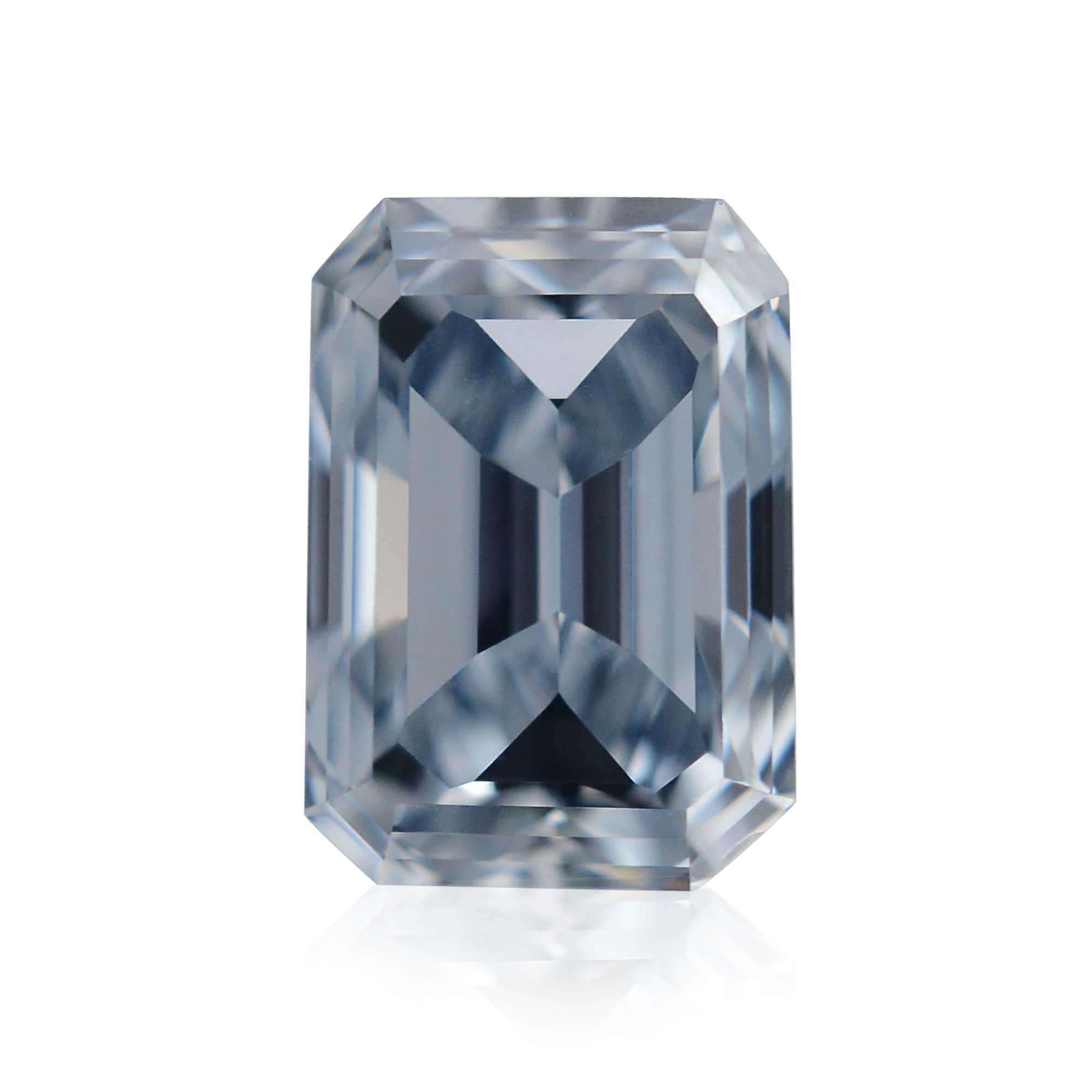 0.50 carat, Fancy Intense Blue Diamond, Emerald Shape, VS1 Clarity, GIA, SKU 328608