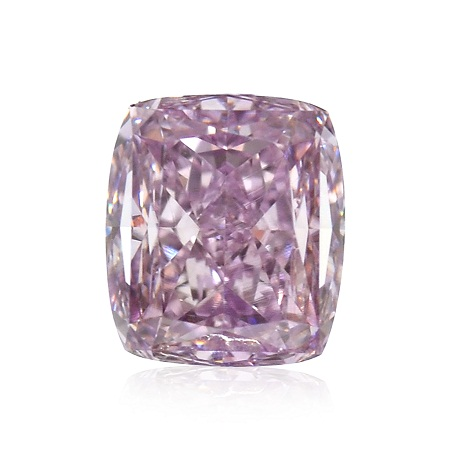 0.51 carat, Fancy Intense Pink Purple, Cushion Shape, VS2 Clarity, GIA