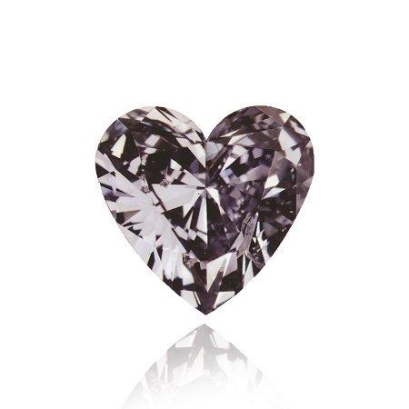 Diamant in Herzform in Fancy-Dunkel-Grau mit leichtem violettem Einschlag (Fancy Dark Violetish Gray) mit 0,56 Karat