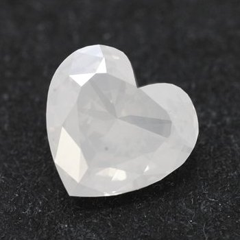 0.62 carat Fancy White heart shaped diamond