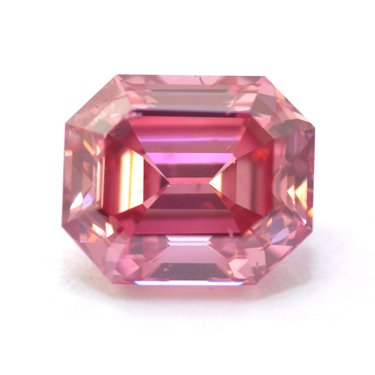 0.65 Fancy Intense Purple Pink emerald cut diamond