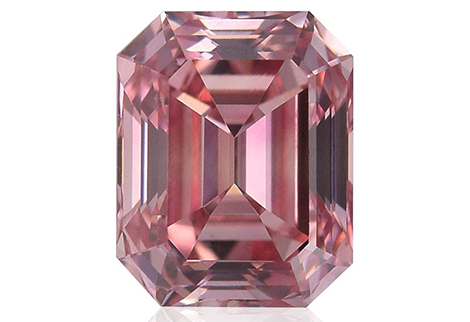 0.75 carat, Fancy Intense Pink, Emerald Shape, VVS1 Clarity, GIA & ARGYLE, SKU 211839