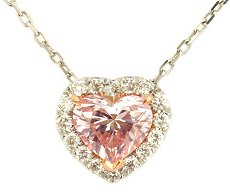 0.81ct Light Pink Heart Shape Diamond Pendant