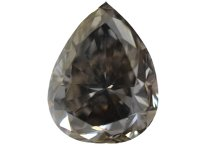0.82 Carat, Fancy Dark Grey Diamond, Pear, IF
