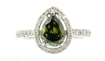 1.00ct Green Diamond Ring
