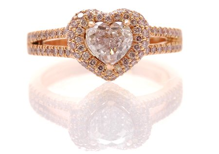 1.01 Carat Pink Diamond Ring