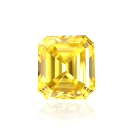 1.05 Carat, Fancy Vivid Yellow Diamond, Emerald, IF