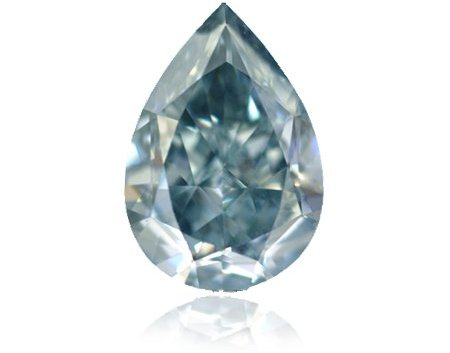 1.10 Carat, Fancy Grayish Blue Diamond, Pear, IF