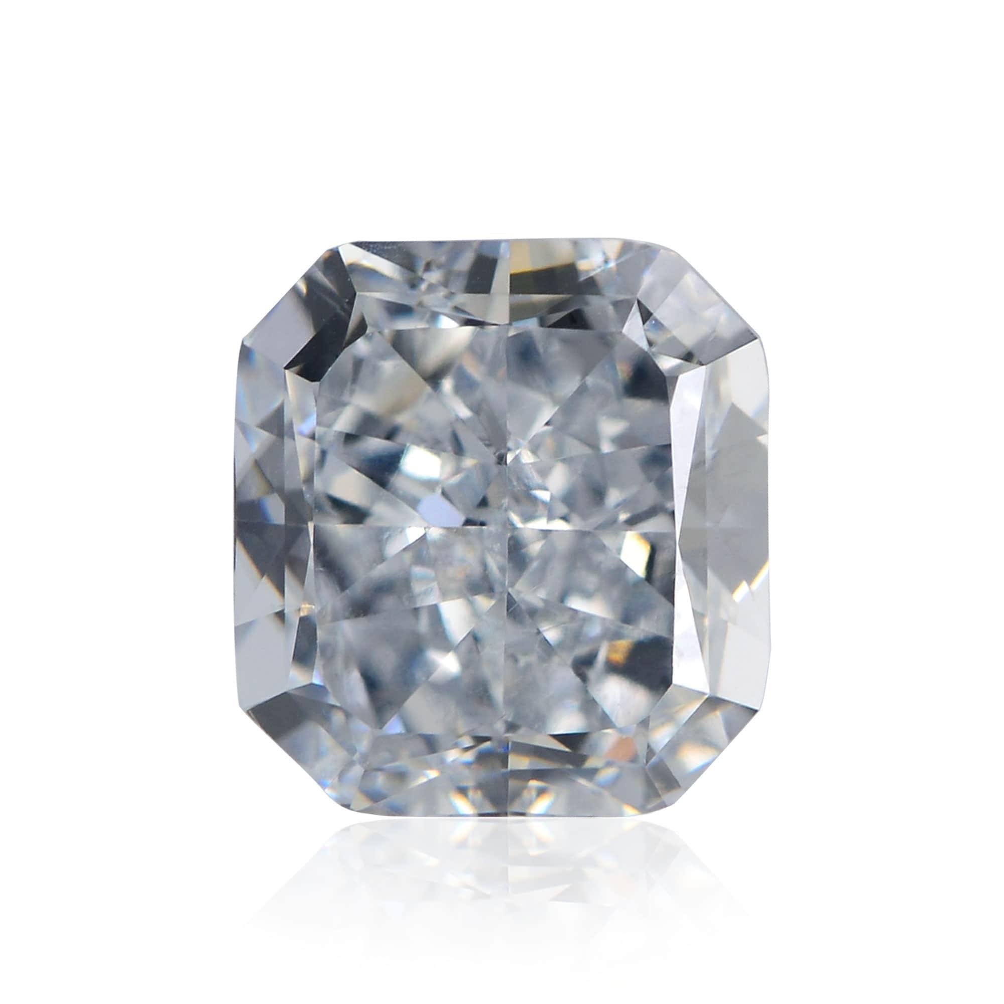 1.61 carat, Fancy Grayish Blue Diamond, Radiant Shape, VS2 Clarity, GIA, SKU 225785