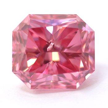1.68-carat, Fancy Vivid Purplish Pink, Radiant-shaped diamond
