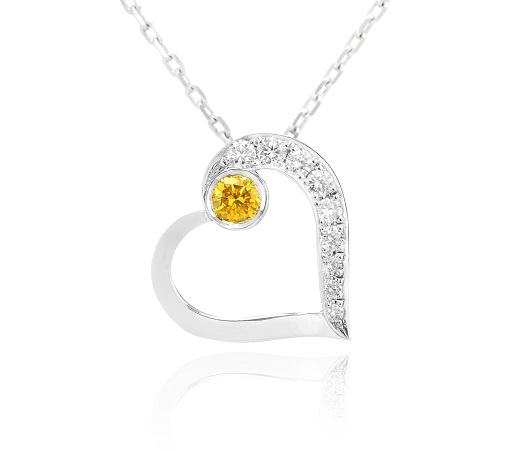 10 Ways to Say I Love You Yellow Diamond Pendant