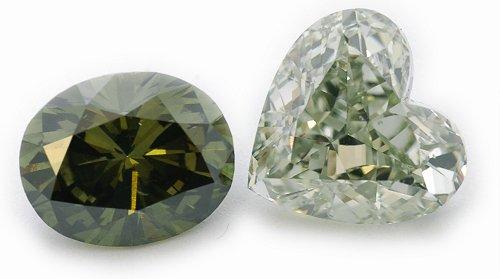 100 % natürliche Grüne Diamanten