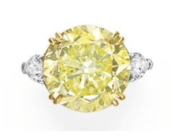 17.57ct Fancy Intense Yellow Diamond Ring
