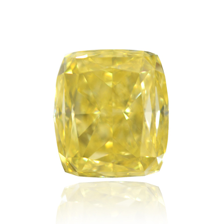 2.03 Carat, Fancy Intense Yellow Diamond, Cushion