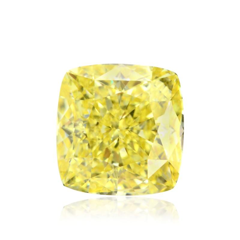 2.19 carat, Fancy Intense Yellow, Cushion Shape, FL Clarity, GIA