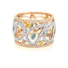 2.44 carat mix color diamond ring