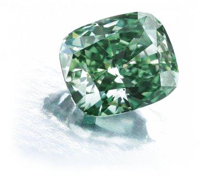 2.52-carat Fancy Vivid Green Diamond sold at Sotheby