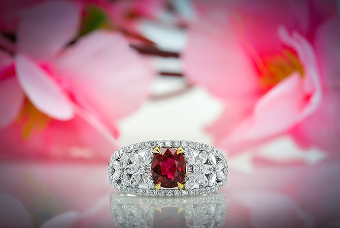 Leibish Ruby Jewelry