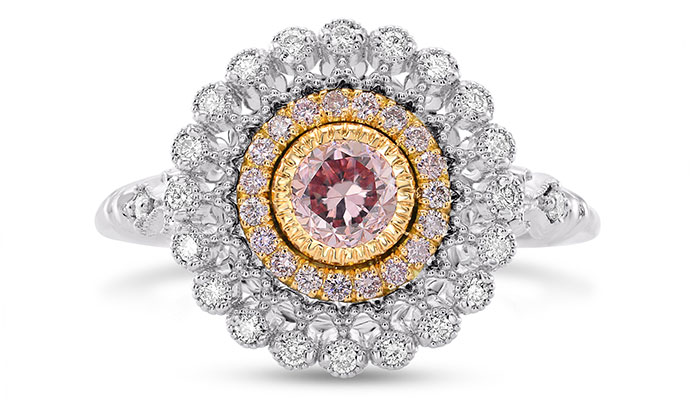 Argyle Fancy Intense Purplish Pink Diamond Ring (0.68Ct TW)