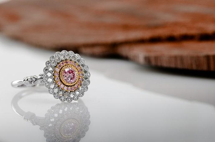 Argyle Fancy Intense Purplish Pink Diamond Ring (0.68Ct TW)