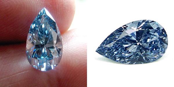 3+ carat fancy vivid blue diamond