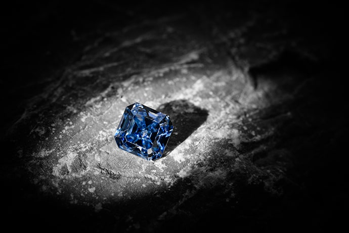 A 1.41 carat Fancy Vivid Blue Diamond