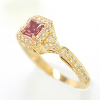 0.52ct Fancy Purplish Red Ring