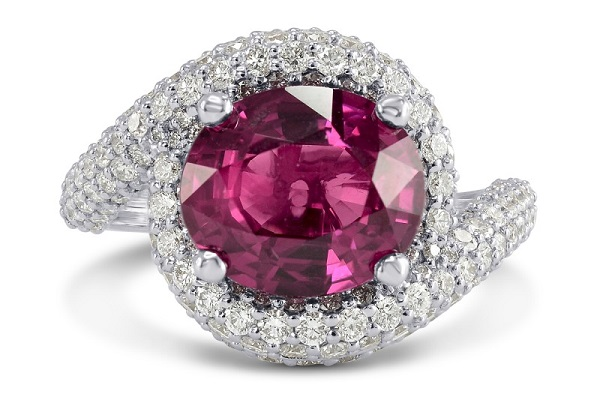 4 Carat Ruby & Diamond Designer Ring