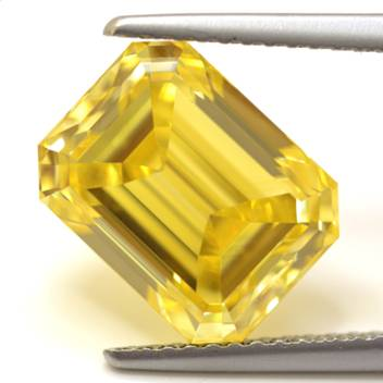 5.03ct fancy vivid yellow