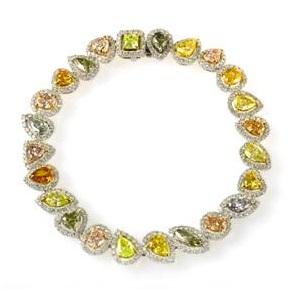 10.44ct fancy color bracelet