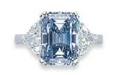 6.60ct Fancy Intense Blue Emerald-2011