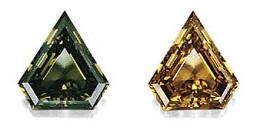 Diamant mit Chamäleon-Effekt und 4,41 Karat