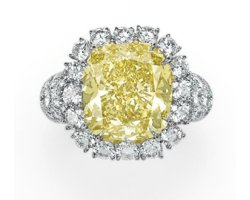 9.39ct Fancy Deep Yellow Diamond Ring