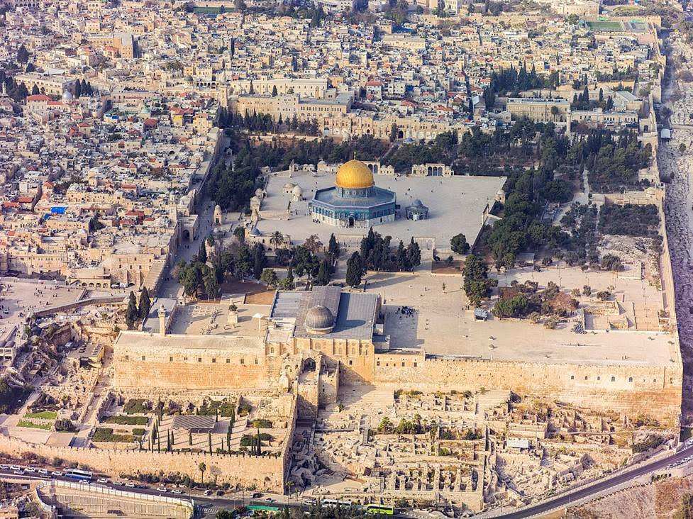 Pictured above: View over Jerusalem