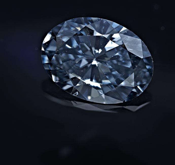 Fancy Deep Blue Oval Shaped Diamond