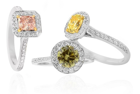 Various Fancy Color Engagement Rings