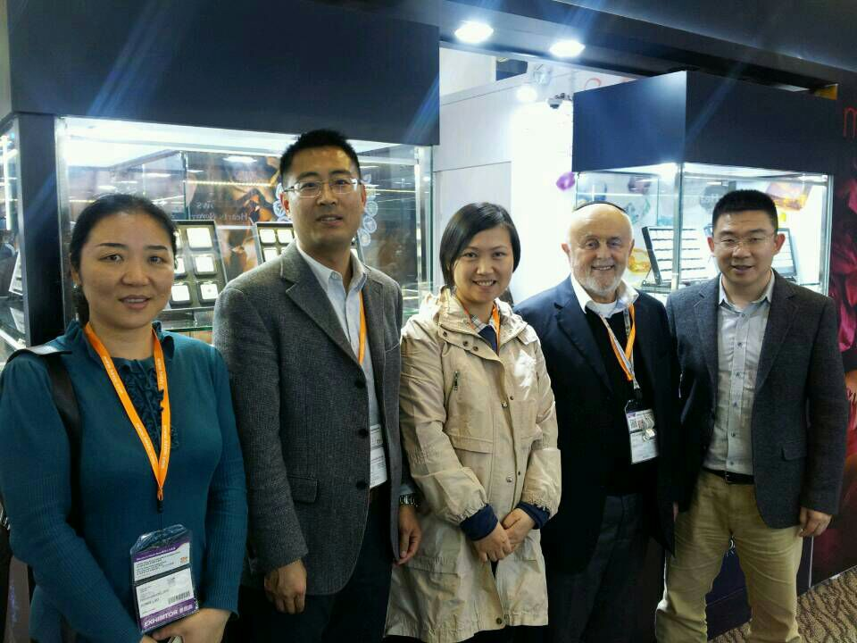 Leibish and some esteemed visitors at HKTDC March 2014