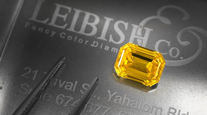 A 3.07ct  Fancy Vivid Orangy Yellow