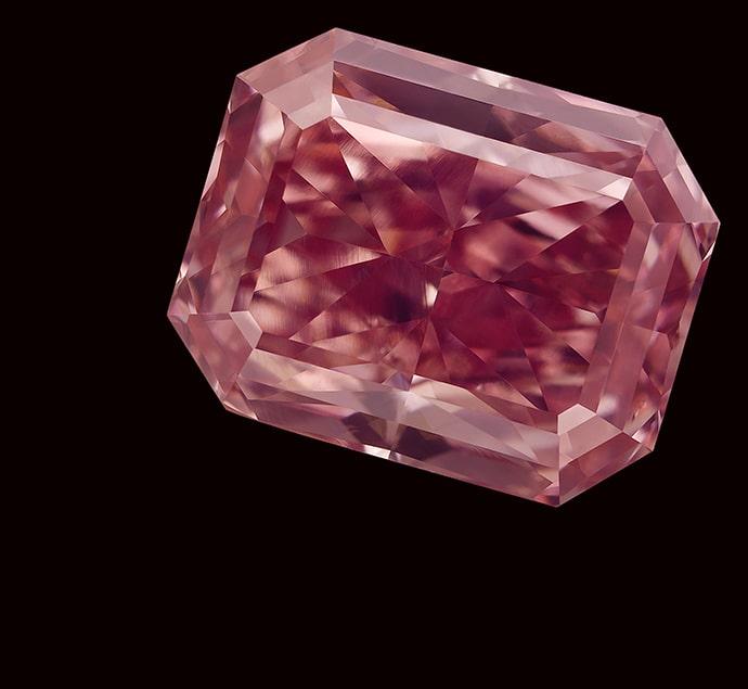 A natural pink diamond