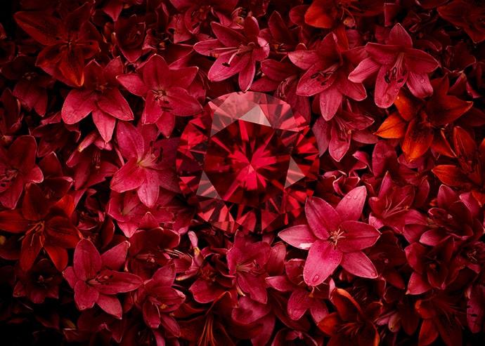 Natural red diamonds from Leibish