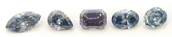 A fantastic collection of Natural Blue Diamonds