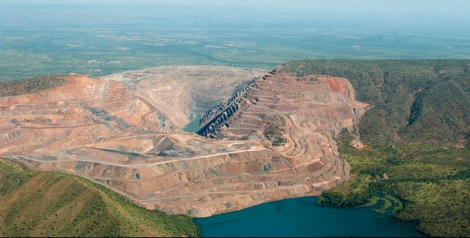 Die Argyle-Diamantenmine in Australien