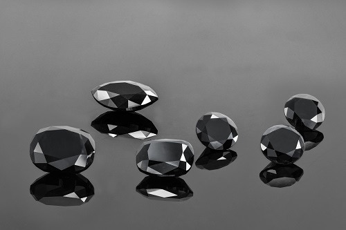A mix of Leibish & Co. black diamonds
