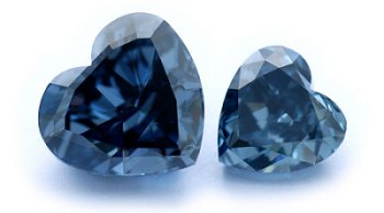 Blue Hear-Shaped Stones