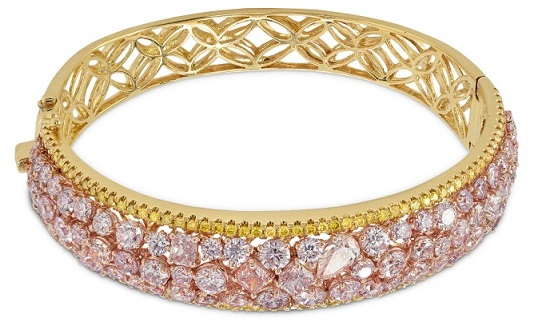 Couture Pink and Canary Yellow Diamond Bangle